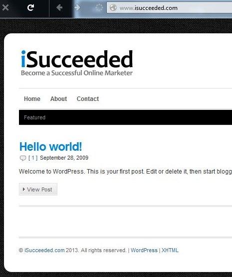 Isucceeded