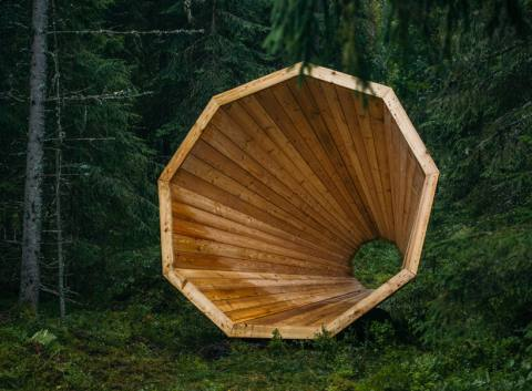 estonian-students-forest-megaphones-s
